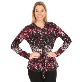 Damen-Pullover, rot/multicolor