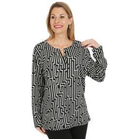 Damen-Pullover, schwarz/hellgrau