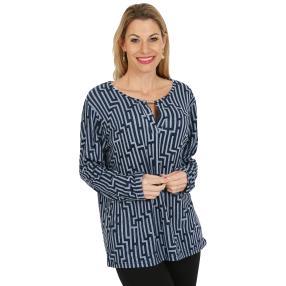 Damen-Pullover, dunkelblau/hellblau