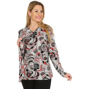Damen-Pullover, grau/multicolor