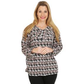 Damen-Pullover, rosé/multicolor