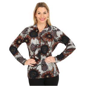 Damen-Pullover, braun/multicolor