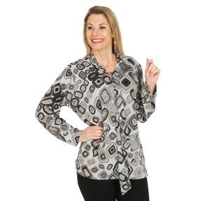 Damen-Pullover, schwarz/multicolor