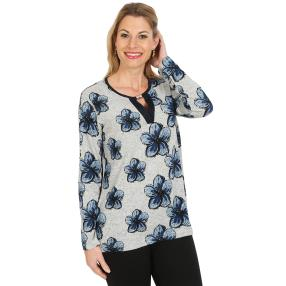 Damen-Pullover, blau/multicolor