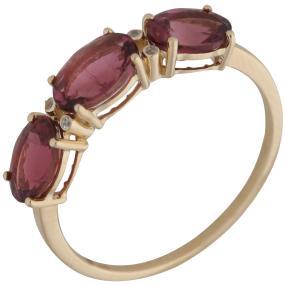 Ring 585 Gelbgold Pink Turmalin+Zirkon
