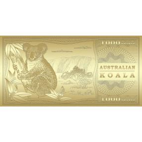 Goldbanknote Koalabär
