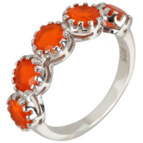 Ring 925 Silber Äthiopischer Opal orange