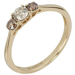 Ring 585 Gelbgold Mocaccino Diamanten