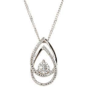 Anhänger mit Kette 925 Sterling Silber Diamanten