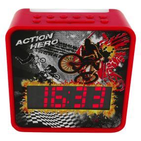 Uhrenradio mit Nachtlicht, rot