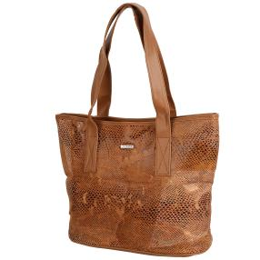 STEFANO® Shopper Animalprint camel