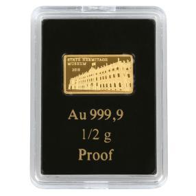 0,5 g Goldbarren Eremitage 2018