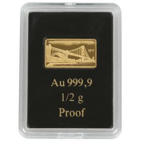 0,5 g Goldbarren Golden Gate Bridge