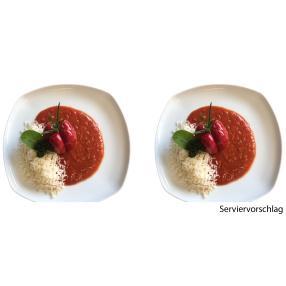 Paprikaschote in Tomatensoße