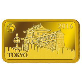 1 g Goldbarren Tokio