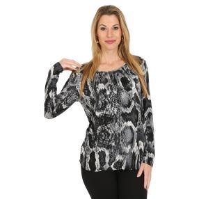 IMAGINI Damen-Shirt schwarz/weiß
