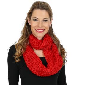 Damen Loopschal, rot