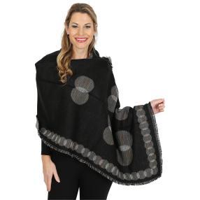 Damenschal XL, schwarz