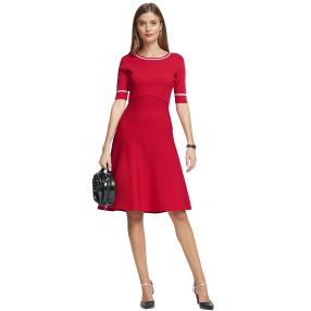ashley brooke Damen Strickkleid rot