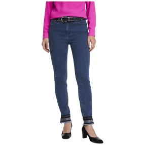ashley brooke Damen Bauchweg-Jeans L30 blau