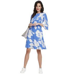 rick cardona Damen Kleid blau