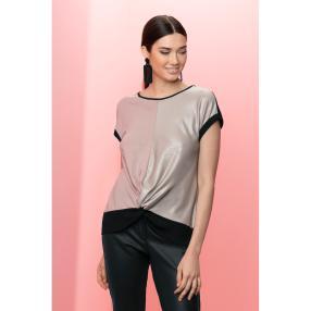rick cardona Damen schimmerndes Shirt metallic