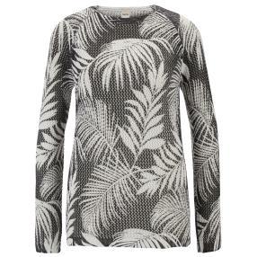 rick cardona Damen Pullover mit Druck schwarz/weiß