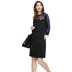 rick cardona Damen Kleid mit Spitze schwarz