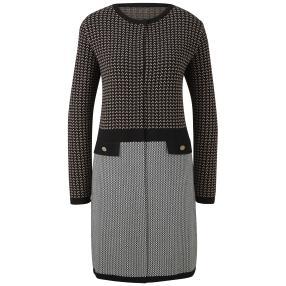 rick cardona Damen Strickjacke schwarz/grau