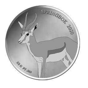 Platinklassiker Springbok 2020 0,5g