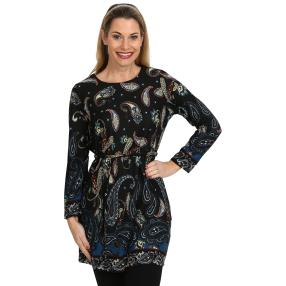Langes Damen-Tunikashirt multicolor