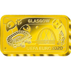 UEFA EURO 2020™ Glasgow 0,5g Goldbarren