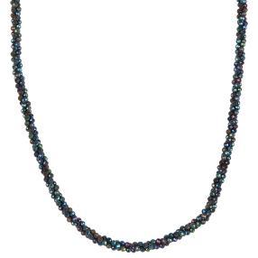 Collier Spinell blau, ca. 45+5cm, ca. 55ct.