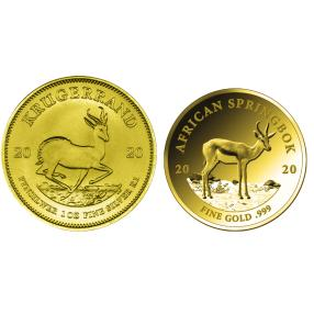 Springbok Gold-Silber-Diamanten-Set