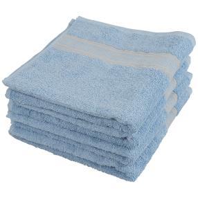 Handtuch 4tlg. Bordüre blau 50x100 cm
