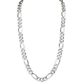Figarokette 925 Sterling Silber, ca. 55 cm