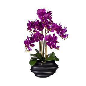 XXL-Orchidee lila 75cm im Topf schwarz