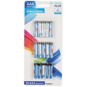 15x Grundig Batterien AAA
