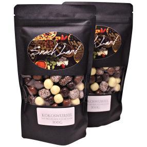 Kokoswürfel in belgischer Schokolade