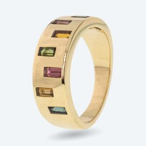 STAR Ring 585 Gelbgold AAA Turmalin