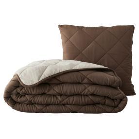 Verwandlungskissen Magic Pillow 200x200cm braun
