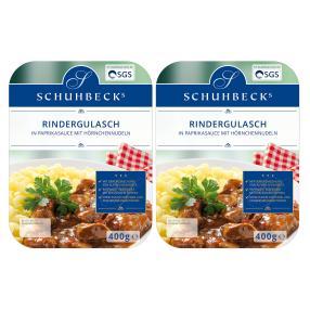 2x Rindergulasch in Sauce