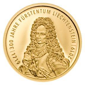 Goldmünze 300 Jahre Liechtenstein