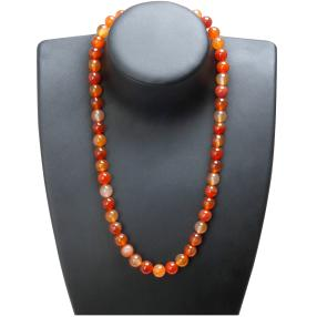 Collier, Karneol, gelb, orange, braun, ca. 53 cm