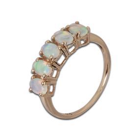 Ring 375 Gelbgold, Äthiopischer Opal