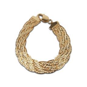 Flechtarmband 925 Sterling Silber vergoldet