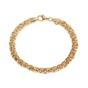 Königsarmband 925 Sterling Silber vergoldet