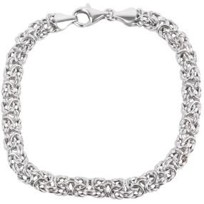 Königsarmband 925 Sterling Silber, ca. 20 cm