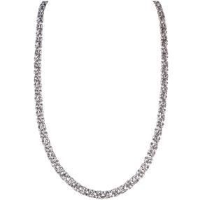 Königskette 925 Sterling Silber, ca. 51 cm