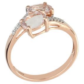 Ring 585 Rotgold, Morganit